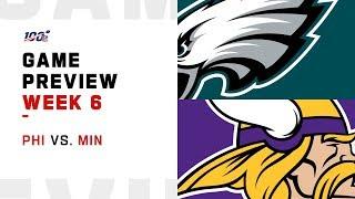 Philadelphia Eagles vs. Minnesota Vikings Week 6 NFL Game Preview
