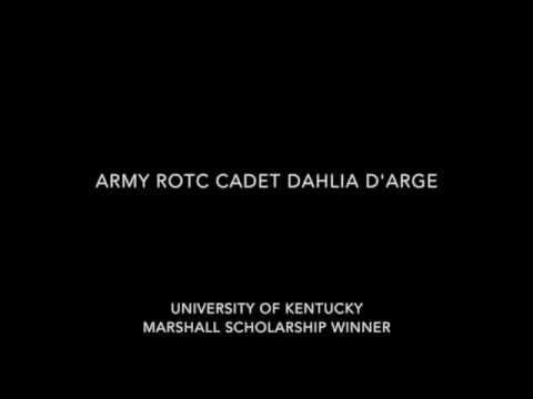 Army ROTC Cadet Dahlia d'Arge, 2015 Marshall Scholar