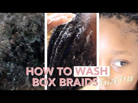 HOW TO Wash + Remove Product Build Up From Box Braids (Frizz-Free!)