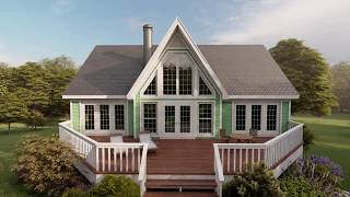 SMALL COTTAGE HOUSE PLAN 053-00214
