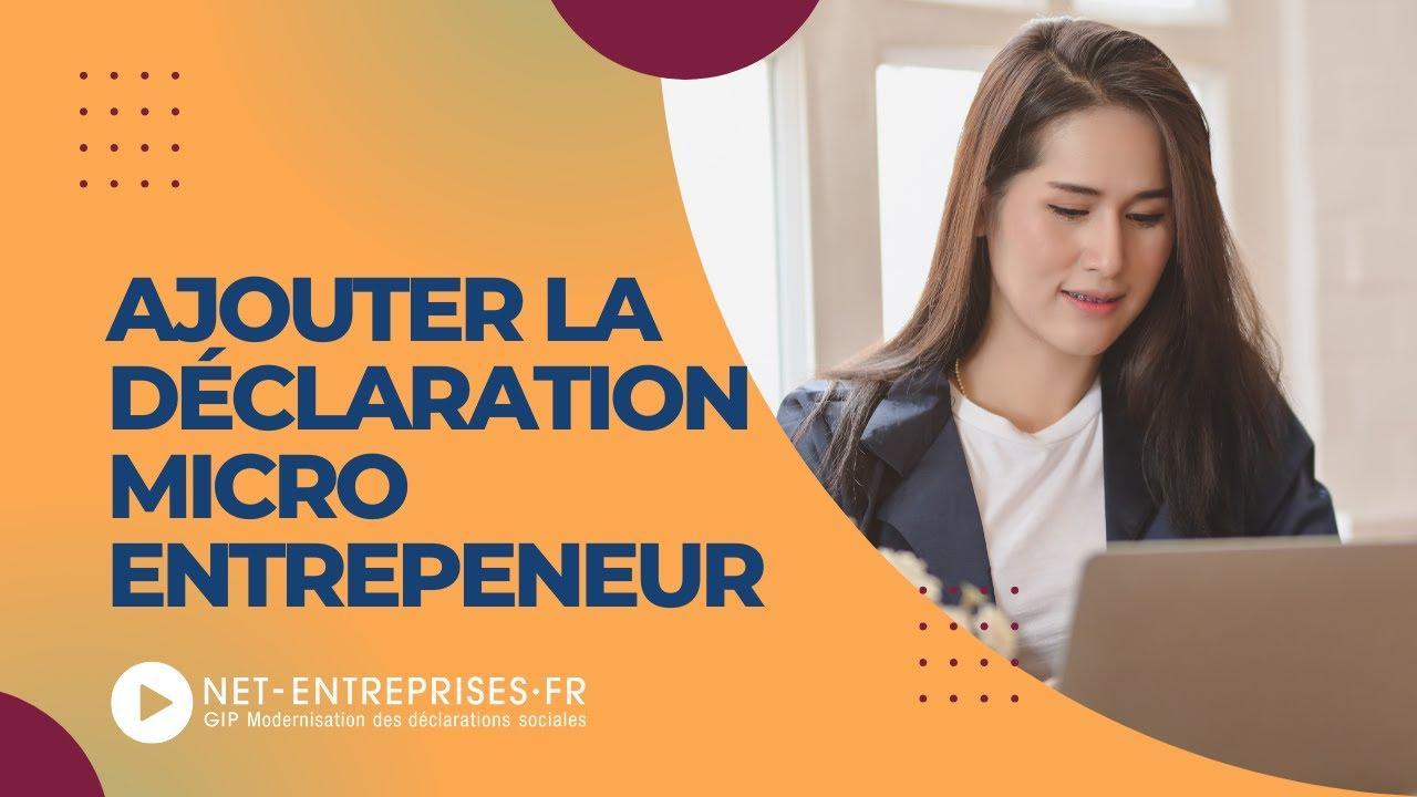 Ajouter La Declaration Micro Entrepreneur Youtube