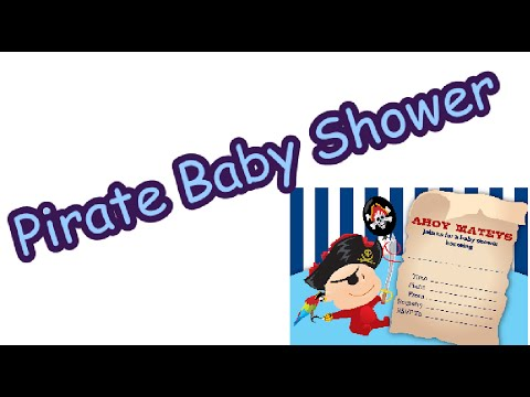 pirate baby shower printable decorations youtube