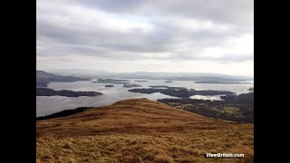 View of Luss Village and Loch Lomond Lake - Loch Lomond and The Trossachs National Park Scotland