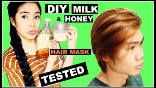 DIY Milk & Honey Hair Mask For Colored & DRY Damaged Hair-TESTED-DOES IT WORK-BEAUTYKLOVE