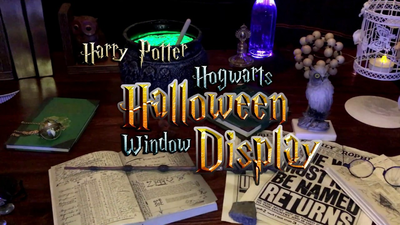 harry potter and hogwarts halloween display - Hogwarts Halloween