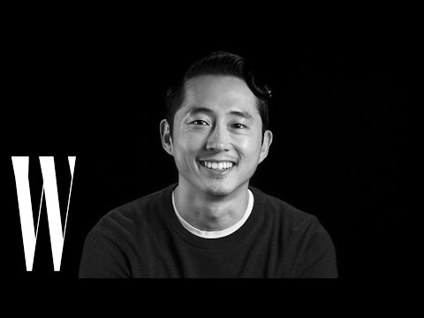 """Steven Yeun on His """"Walking Dead"""" Death Scene, and His ''Classic"""" First Kiss   W Magazine"""