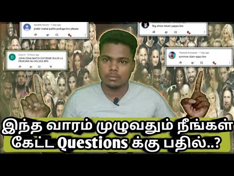 #1 நீங்கள் கேட்ட Question John Cena And big show and jinder Mahal and Goldberg all news
