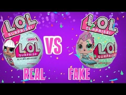 Fake LOL Surprise Dolls Vs. Real L.O.L - YouTube