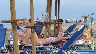 Kavos Beach Corfu Greece. Кавос Корфу Греция.(Music: http://www.purple-planet.com., 2015-08-25T20:45:50.000Z)