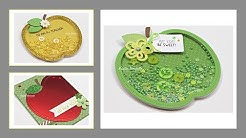 Queen & Company - Apple Shaped card kit - 3 cards 1 kit