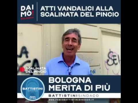 Atti vandalici alla scalinata del Pincio: Bologna merita di più!