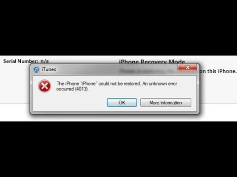 fix lỗi 9 lỗi 4013 iphone the iphone cuold be restore an unknown error occurred 4013