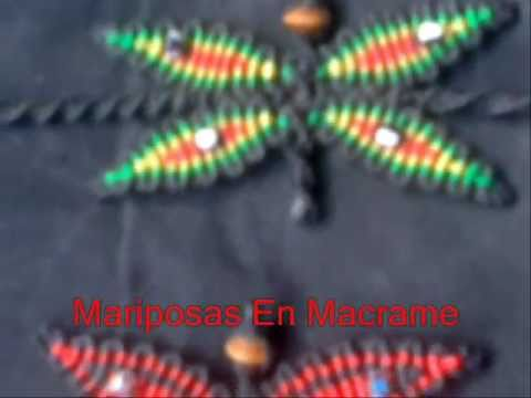 Mariposas En Macrame y Pulseras En Colores Rasta - Butterflies In Macrame Rasta colors and Bracelets Travel Video