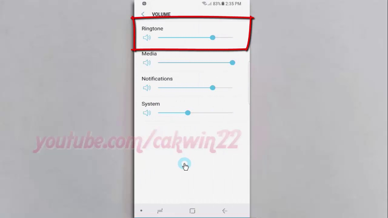 Android Nougat : How to Increase or Decrease Ringtone Volume on Samsung  Galaxy S8 or S8+
