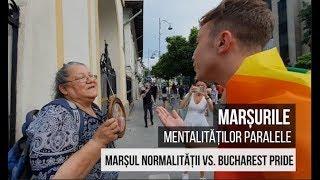 Marsurile mentalitatilor paralele Marsul Normalitatii vs. Bucharest Pride