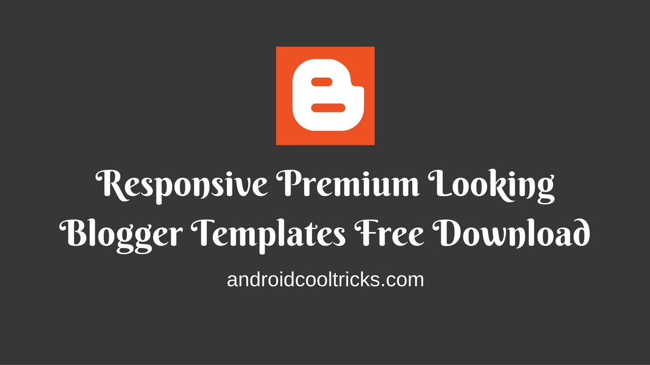 Top 10 Premium Looking Blogger Templates Free Download - YouTube