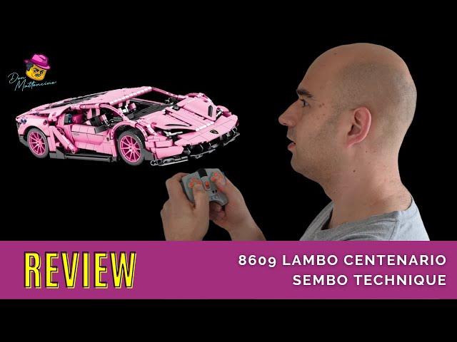 Mein neuer Lambo ... in Pink und aus Klemmbausteinen l Review Sembo Technique Set 8609