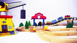 wooden trains - trains for children - train for kids - trains for kids - chu chu train