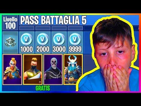 PASS BATTAGLIA STAGIONE 5 *GRATIS* su FORTNITE se mio CUGINO VINCE!! 😱