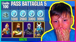 "PASS BATTLE SEASON 5 ""FREE"" on FORTNITE if my CUGINO VINCE!! 😱"
