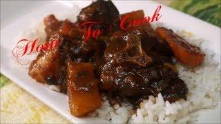 HOW TO COOK CARIBBEAN JAMAICAN BROWN STEW TURKEY NECK RECIPE 2017