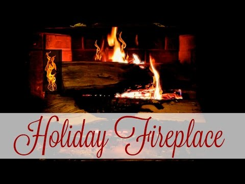 Holiday Fireplace with Crackling | 1 Hour Loop (FULL HD 1080P)