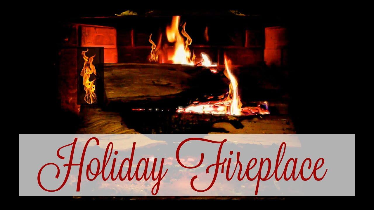 Holiday Fireplace with Crackling | 1 Hour Loop (FULL HD 1080P ...