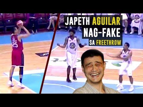 NAG-FAKE Si JAPETH AGUILAR Sa FREETHROW LINE   PBA Funny Moment