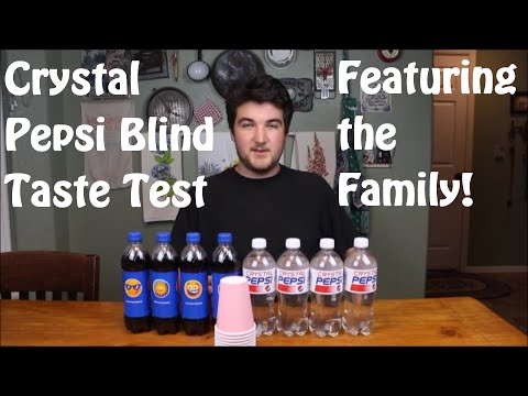 Pepsi vs Crystal Pepsi Whole family Blind Taste Test