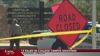 Gunman open fires at Umpqua Community College, killing more than a dozen people