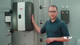 Acumulador multienergía BSPW WOLF para sistemas híbridos y agua caliente