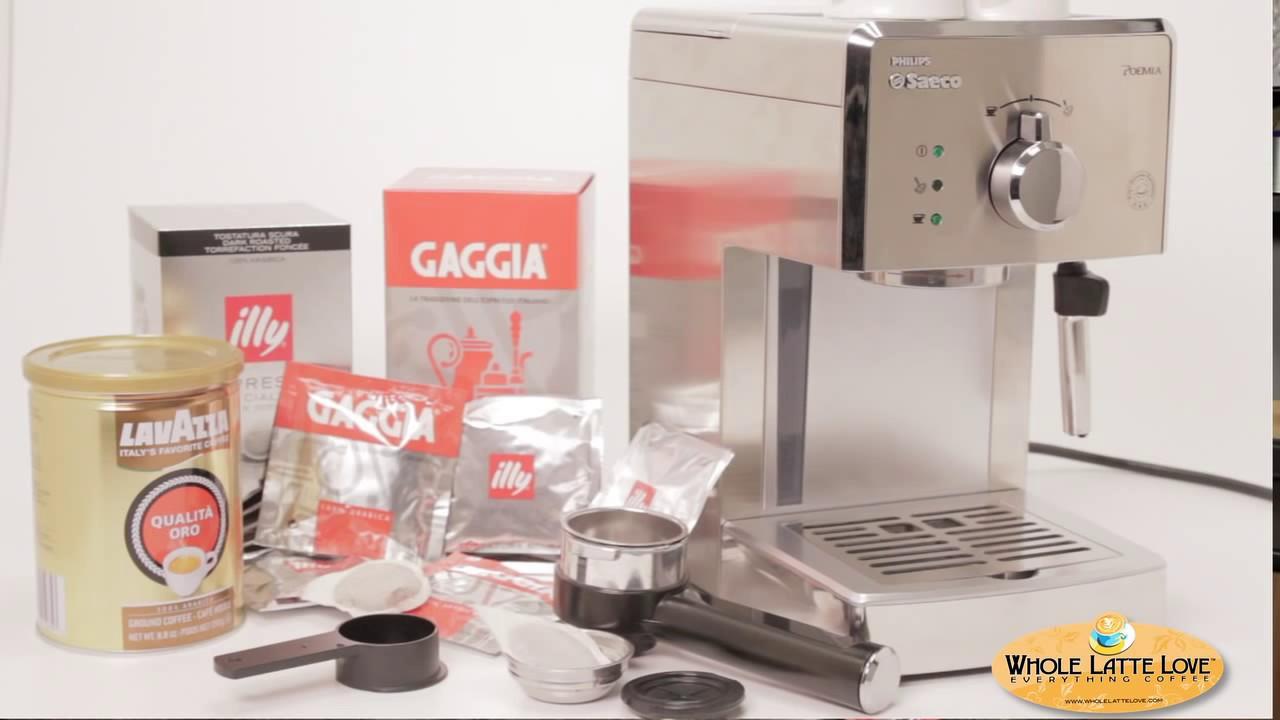 Saeco Poemia Espresso Machine How To Brew Steam Youtube