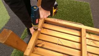 How To Build A Wooden Bench With Gary At Bents Garden & Home