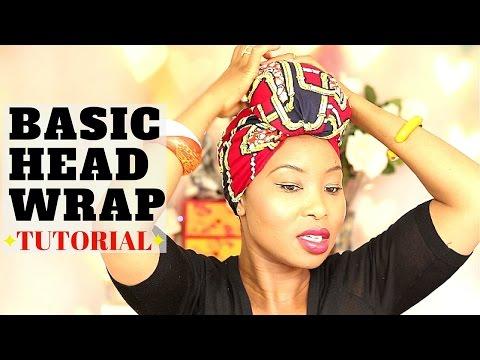 Head Wrap Tutorial - Head Wrap - Ankara - How To Tie A Head Wrap - Hijab Tutorial - Curly Hair