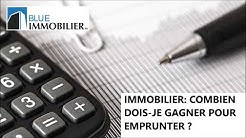 IMMOBILIER: Quel revenu minimum pour emprunter à la banque (Suisse)?