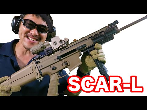 【実弾射撃】スカーL (FN SCAR-L) 5.56mmアサルトライフルを撃ってみた!【マック堺のレビュー動画】#359