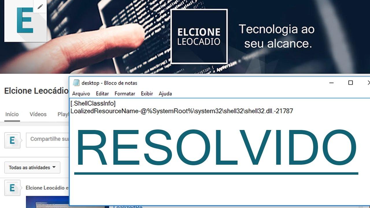 [RESOLVIDO] Mensagem ao iniciar o Windows – Como remover [.ShellClassInfo] LoalizedRe…