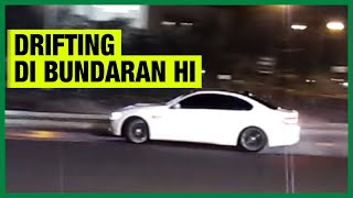 Rifat Sungkar Drift with BMW M3 E92 for Catatan Si Boy Drift at Bunderan HI
