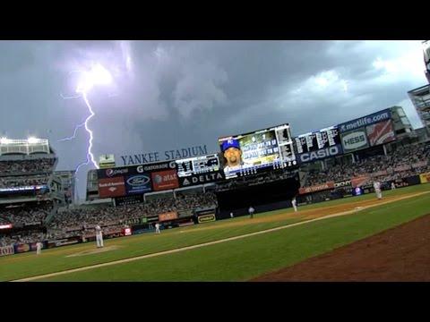 Severe Thunderstorm Hits Yankee Stadium