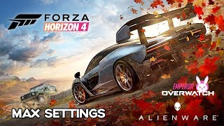Forza Horizon 4 - MAX GRAPHICS SETTINGS | Alienware 15 R4 (2018) Gameplay