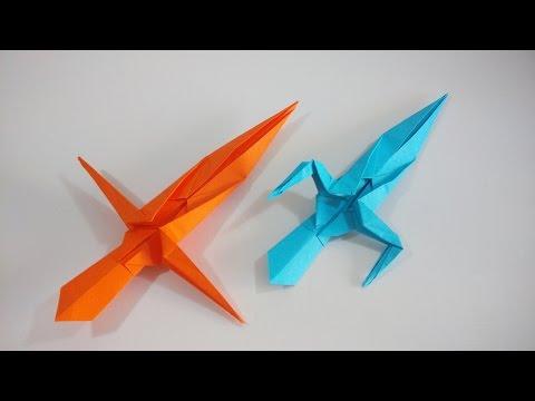 Como hacer una espada ninja de papel