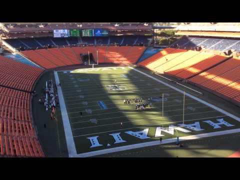 Hawaii Football Walk-Through Practice at Aloha Stadium
