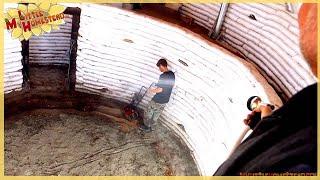 Soil Cement Subfloor in Basement | Underground Earthbag Building Ep 15 | Weekly Peek
