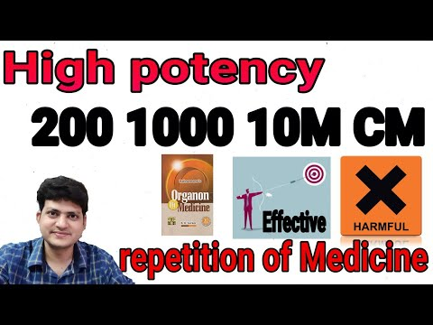 How to use 200 & 1M Potency ? repetition is harmful ? How to repeat ? According to Organon Book !