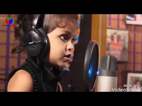 Cute girl singing chinna chinna asha from roja movie