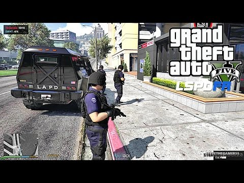 GTA 5 LSPDFR 0.3.1 - EPiSODE 102  - LET'S BE COPS - SWAT PATROL (GTA 5 PC POLICE MODS)