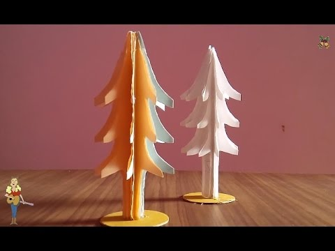 How To Make A Christmas Tree Using Paper Very Easy