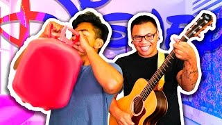 SINGING DISNEY SONGS WITH HELIUM!