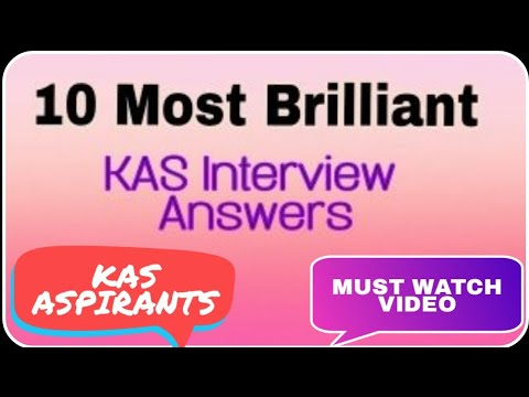 KAS Interview Questions and their Answers || Top 10 questions asked in KAS Interview