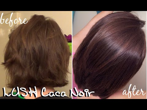 Lush Caca Noir Henna Hair Results New Haircut Youtube